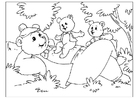 Bilde å fargelegge farsdag - bjørner