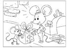 Bilde å fargelegge farsdag - mus