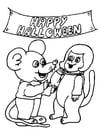 Bilde å fargelegge fest Halloween