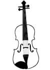 Bilde å fargelegge fiolin