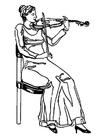 Bilde å fargelegge fiolonist