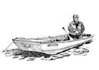 Bilde å fargelegge fisker i bÃ¥t