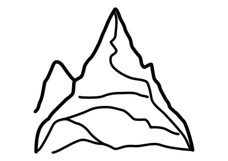 Bilderesultat for fjell tegning