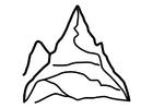 Bilde å fargelegge fjell