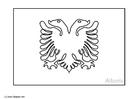 Bilde å fargelegge flagg fra Albania