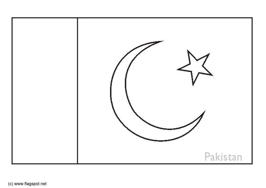 Bilde Fargelegge Flagg Fra Pakistan Bil