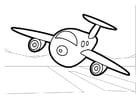 Bilde å fargelegge fly