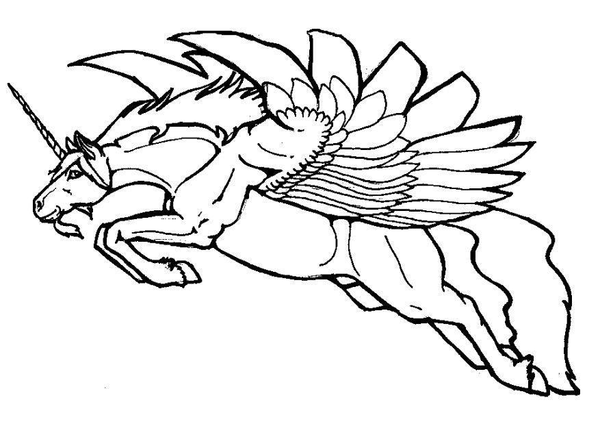 Bilde fargelegge flyende enhj rning bil 7131 - Unicorno alato pagine da colorare ...
