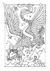 Bilde å fargelegge flygende drage