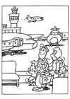 Bilde å fargelegge flyplass
