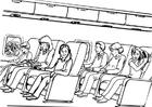 Bilde å fargelegge flyreise