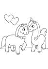 Bilde å fargelegge forelsket hester