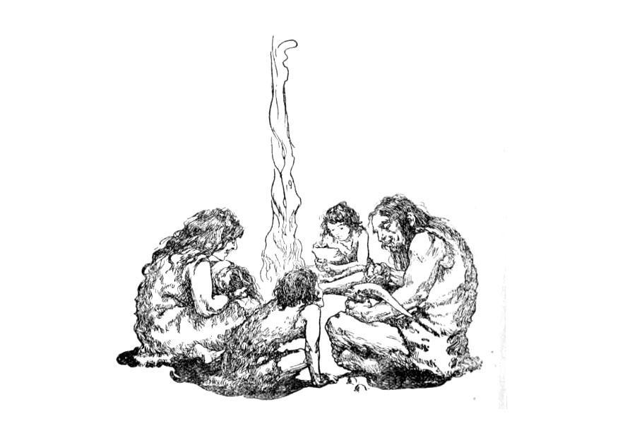 bilde å fargelegge forhistorisk familie  gratis bildene