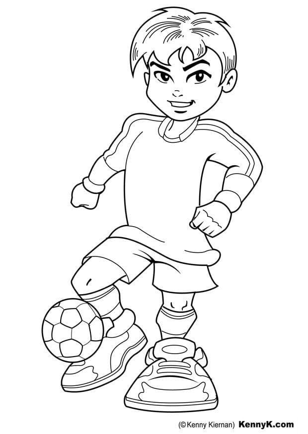 Bilde fargelegge fotballspiller