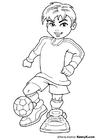 Bilde å fargelegge fotballspiller