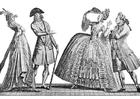 Bilde å fargelegge fransk mote 1778