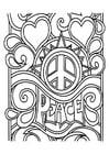 Bilde å fargelegge fred
