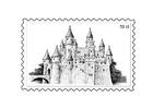 Bilde å fargelegge frimerke 3