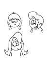 Bilde å fargelegge frisyrer
