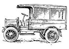 Bilde å fargelegge gammel lastebil