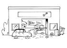 Bilde å fargelegge garasje - uten tekst