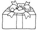 Bilde å fargelegge gave