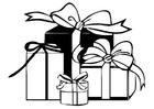 Bilde å fargelegge gaver