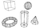 Bilde å fargelegge geometriske figurer
