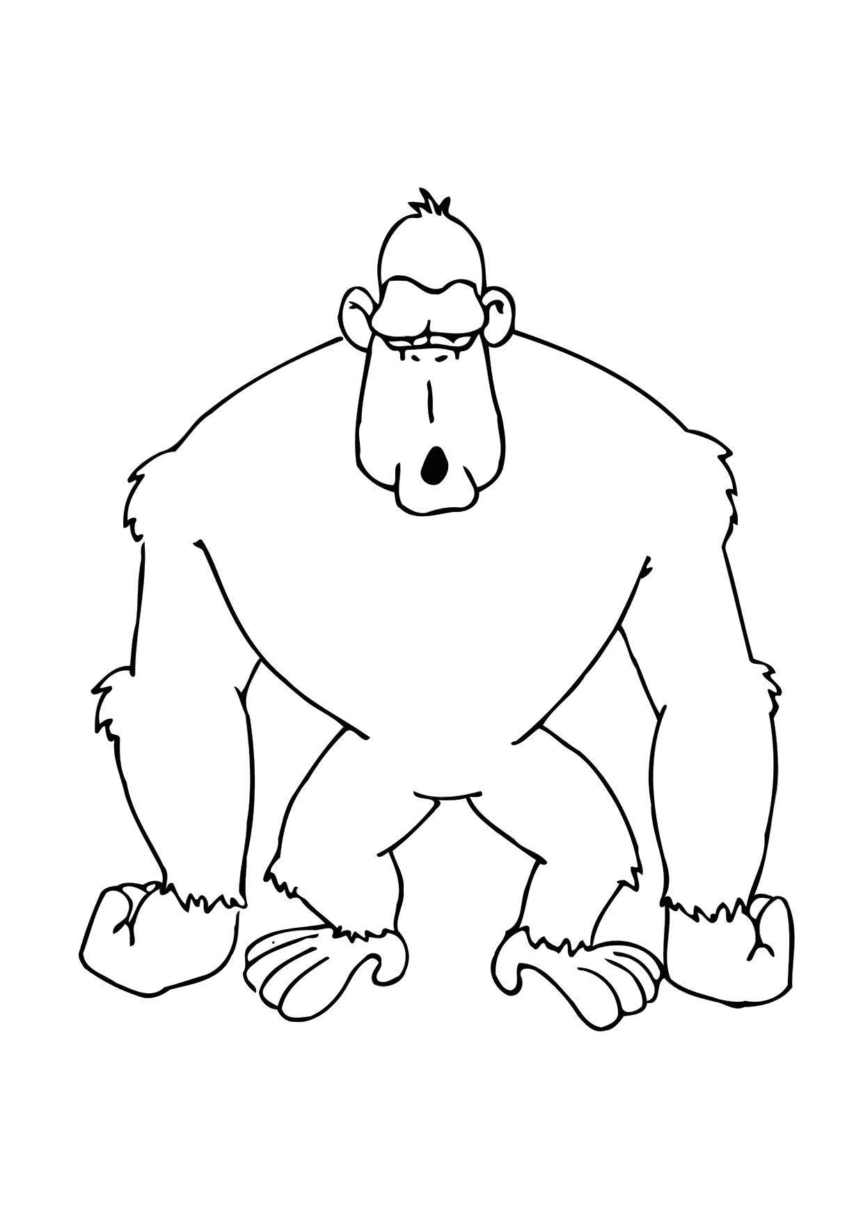 Bilde fargelegge gorilla bil 11615 - Dessin d un gorille ...
