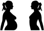 Bilde å fargelegge graviditet
