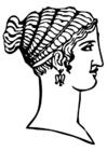Bilde å fargelegge gresk frisyre