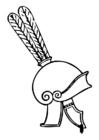 Bilde å fargelegge gresk hjelm