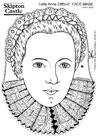 Bilde å fargelegge grevinnen Anne Clifford - maske