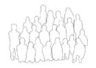 Bilde å fargelegge gruppe av mennesker - klasse