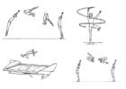 Bilde å fargelegge gymnastikk