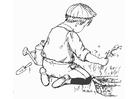 Bilde å fargelegge hagearbeid