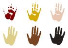 Bilde å fargelegge hÃ¥ndavtrykk