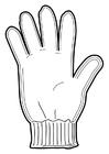 Bilde å fargelegge hanske