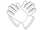 Bilde å fargelegge hansker