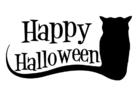 Bilde å fargelegge happy Halloween