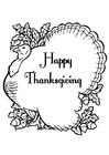 Bilde å fargelegge Happy Thanksgiving