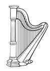 Bilde å fargelegge harpe