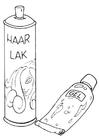 Bilde å fargelegge hÃ¥rstyling - gelé og spray