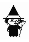 Bilde å fargelegge heks Halloween