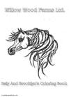 Bilde å fargelegge hest fra Willows farm
