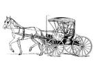 Bilde å fargelegge hest med vogn
