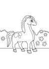 Bilde å fargelegge hest pÃ¥ farten