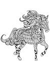 Bilde å fargelegge hest