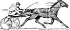 Bilde å fargelegge hesteløp