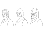 Bilde å fargelegge hjelmer